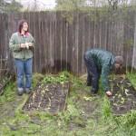 Sarah Kleeger and John Herberg Gardening