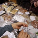 Seeds offered at a seed swap